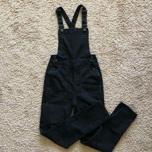 Madewell Black Skinny Overalls XS